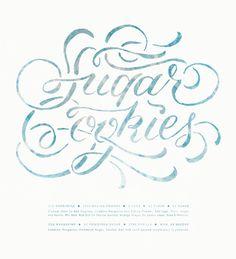 Sugar Cookie Recipe by Jill De Haan, via Behance