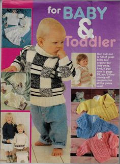 For BABY & TODDLER knitting & crochet magazine pullout winter