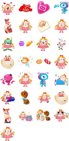 Stickers are illustrations or animations of characters that you can send to… Bullet Journal Icons, Bullet Journal Writing, Printable Stickers, Printable Planner, Printables, Candy App, Candy Drawing, Cut Out Art, Candy Crush Saga