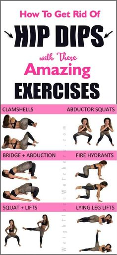 """Also known as """"Violin Hips"""", hip dips are a threat to achieving your desired sexy body. This article contains amazing and effective exercises that help to get rid of hip dips. With consistent doing, these moves help you to sculp a fuller hips. for hips Summer Body Workouts, Fun Workouts, At Home Workouts, Workout Routines, Workout Exercises, Fitness Exercises, Sports Challenge, Weight Loss Challenge, Hip Dip Exercise"""