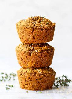 Sweet Potato & Herb Savory Muffins   Vegan, Gluten-Free, Oil-Free