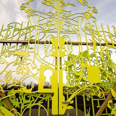 If It's Hip, It's Here: Whimsical Entrance Gates Designed For An Amsterdam School Garden by Tjep.