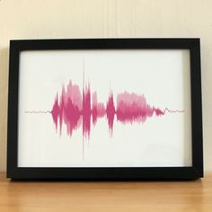 Have your husband say I love you, record the sound wave, one of a kind wrist tattoo