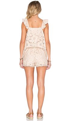 Tularosa Gwendolyn Romper in Pale Blush | REVOLVE