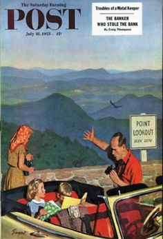 Saturday Evening Post - 1953-07-18: Lookout Point (Richard Sargent)