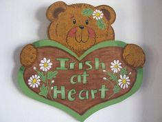 Hey, I found this really awesome Etsy listing at https://www.etsy.com/listing/262988393/bear-st-pats-day-wall-hanging-wall-decor