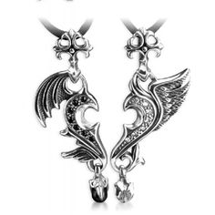 True Love Of Angel And Devil - Sterling Silver Couple Necklace