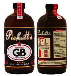 Pickett's All-Natural Hot n' Spicy Ginger Beer Syrup  Mix 1 part syrup to 5 parts soda water.