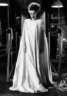 Vera West Costume Design for Elsa Lanchaster in The Bride of Frankenstein 1935