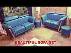 3+2 seater 2pcs puffy beautiful sofa set design rose gold colour leg - YouTube