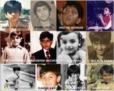 childhood of bollywood stars....