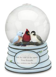 Peace, Love and Birds by Pavilion Musical Snow Globe #Friends