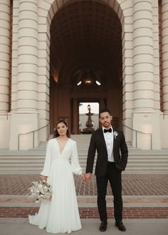 May Iosotaluno - Modern & Elegant Pasadena City Hall Elopement Pasadena City Hall, Elope Wedding, Wedding Dresses, Photo Journal, Joanna August, Hill City, We Love Each Other, Private Wedding, Before Sunset