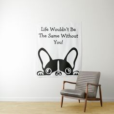 French Bulldog Adorable Dog Dont Wanna Take Shower Funny Quotes Shower Curtain