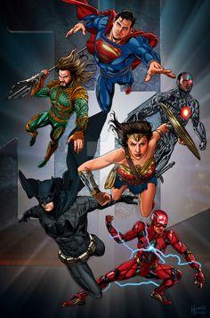 Justice League Poster - Hamlet Roman