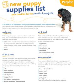 Bringing home a new dog? Make sure you're pup-ared for your puppy by stocking up on the wag-worthy pet essentials on this checklist!