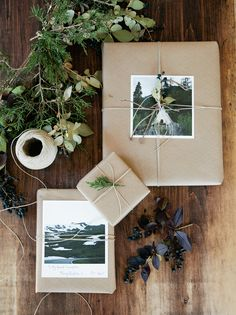 Gift wrapping with square prints from Artifact Uprising