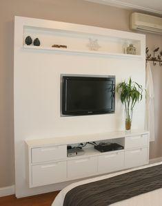 Casa de Valentina; decoração; projeto; apartamento; quarto de casal; estante