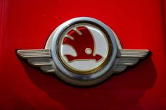 - Skoda - Škoda Auto emblem Car Badges, Car Logos, Car Hood Ornaments, Car Brands, Car Detailing, Custom Cars, Cars And Motorcycles, Techno, Vintage Cars