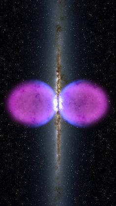 #Google+ | A Previously Unseen Structure Centered In The Milky Way. The Feature Spans 50,000 Light Years & May Be The Remnant Of An Eruption From A Super-Sized Black Hole At The Center Of Our Galaxy - NASA/Goddard Space Flight Center