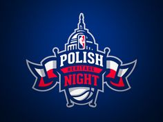 Logo prepared for the Polish Heritage Night 2015 | Marcin Gortat | NBA. Unused proposal.  Larger size