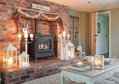 Country Homes & Interiors - December 2013 LOV these candelabras!!!