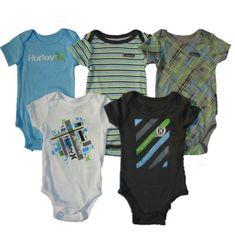 Hurley Baby Boys Short Sleeve Bodysuits