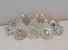set 6 daisy glass cabinet knobs kitchen by poshhomedecorandmore