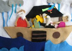 Portable Noah's Ark Felt Board