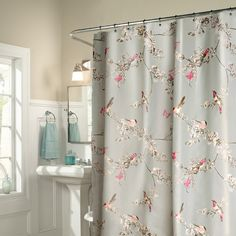 Rich birds polyester shower curtain waterproof mildew shower curtains high - quality home decoration bathroom products #Affiliate