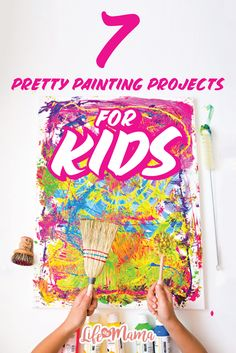 We can't deny that painting is not only a fun activity for bored little ones, but a great way for them to express their creative sides as well. Some of these projects are as simple as squirting a water gun filled with paint as a canvas and other are a little more challenging, but every single one of them is more enjoyable than the next.