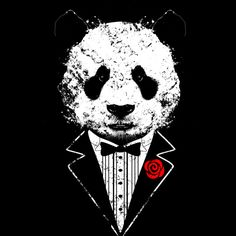Tuxedo Panda V.II is a T Shirt designed by clingcling to illustrate your life and is available at Design By Humans