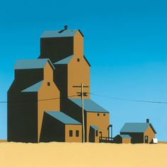 Grain Elevator 1 silkscreen print Best Picture For North Dakota state For Your Taste You are looking for something, and it is going to tell you exactly what you are looking for, and you didn't find th Canadian Prairies, Grain Silo, Commercial Art, Drawing Practice, Old Farm, Silk Screen Printing, Travel Posters, Illustration Art, Illustrations