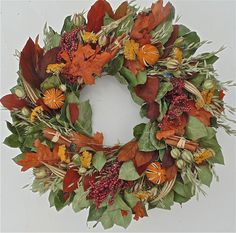The Wreath Depot - Fall Cinnamon and Berry Wreath 22 inch, $59.99 (http://www.thewreathdepot.com/fall-cinnamon-and-berry-wreath-22-inch/)