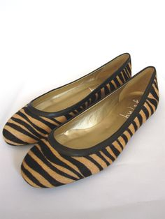 Pony Hair Animal Print Flat by French Sole Shoes: Quietly fabulous.