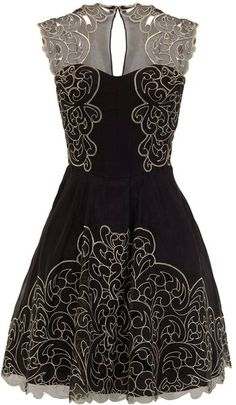 Baroque Cutwork Lace Dress - Lyst