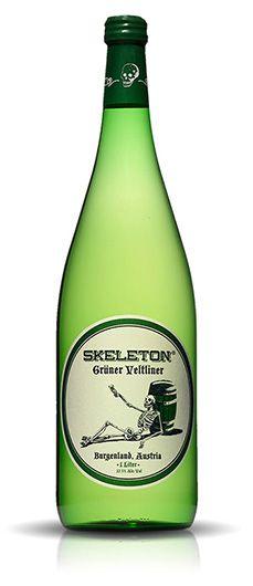 Skeleton Wines Label for Halloween