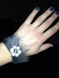 Fur bracelet handmade with love!
