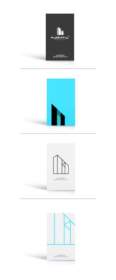 Logotipo corporativo, realizado para futura empresa de arquitectura ubicada en México D.F.