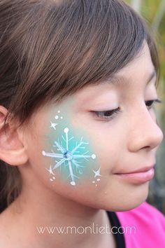 Snowflake Cheek | Monliet face paint | cheek art