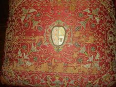 17th century Italian pillow and all over embroidery