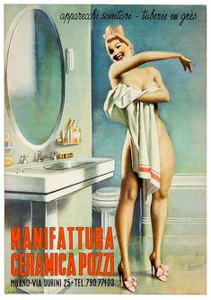 Old Advertisements, Retro Advertising, Retro Ads, Old Posters, Pin Up Posters, Vintage Italian Posters, Vintage Ads, Arte Marilyn Monroe, Serpieri