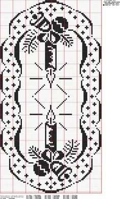 X-mas - Majida Awashreh - Λευκώματα Iστού Picasa Xmas Cross Stitch, Cross Stitch Borders, Counted Cross Stitch Patterns, Thread Crochet, Crochet Doilies, Crochet Stitches, Doily Patterns, Crochet Patterns, Filet Crochet Charts