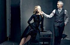 Director Baz Luhrmann and Nicole Kidman for Moulin Rouge