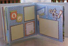 Baby Boy Scrapbook 8 x 8 by KerryTurnerDesigns on Etsy