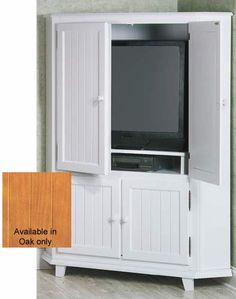 Update Your Home With The Functional Style Of This Somerville Corner TV  Armoire.