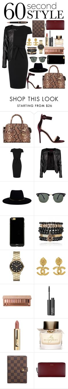 """""""Interview"""" by itsmeambra ❤ liked on Polyvore featuring MICHAEL Michael Kors, Gianvito Rossi, Oasis, Boohoo, Zimmermann, Ray-Ban, Sonix, Samantha Wills, Marc by Marc Jacobs and Chanel"""