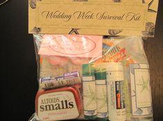 Wedding Weekend Survival Kit