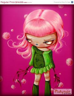 Cotton Candy Wish Puffs Love A Sad Eyed Root by pinkytoast on Etsy, $11.20