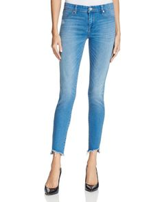 Blanknyc Mid Rise Step Hem Skinny Jeans in One Life Stand